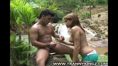 Tranny Hilda Gets Some Outdoor Anal Action
