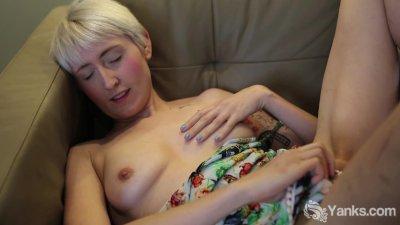 Pierced Molly Fingering Her Pussy