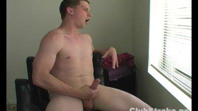 Excited Straight Chad Masturbating