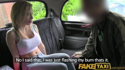 FakeTaxi Perfect blowjob lips get to work on taxi backseat