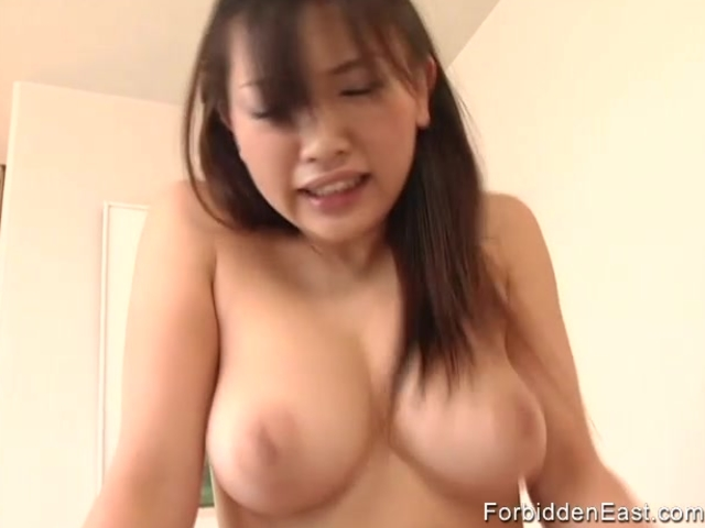 Long haired Oriental babe fucks stiff Asian cock