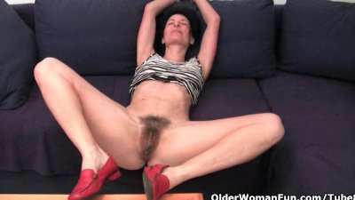 Older women soaking their cotton panties with pussy juice