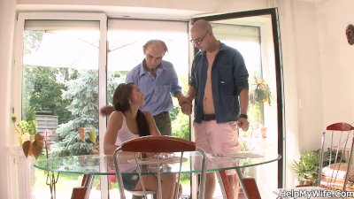 Hot young chick cucks in countryhouse