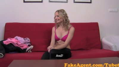 FakeAgent Cute blonde has Casting interview after gym and gets another work