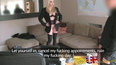 FakeAgentUK Hardcore fuck for hot cheeky minx who breaks into agents office