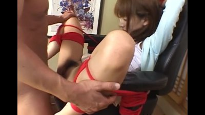 Sexy Oriental restrained and fucked by 3 guys