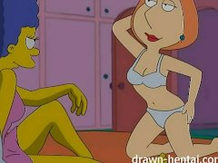 Lesbian Hentai   Marge Simpson and Lo...