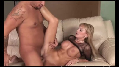 Big breasted blonde milf rides cock