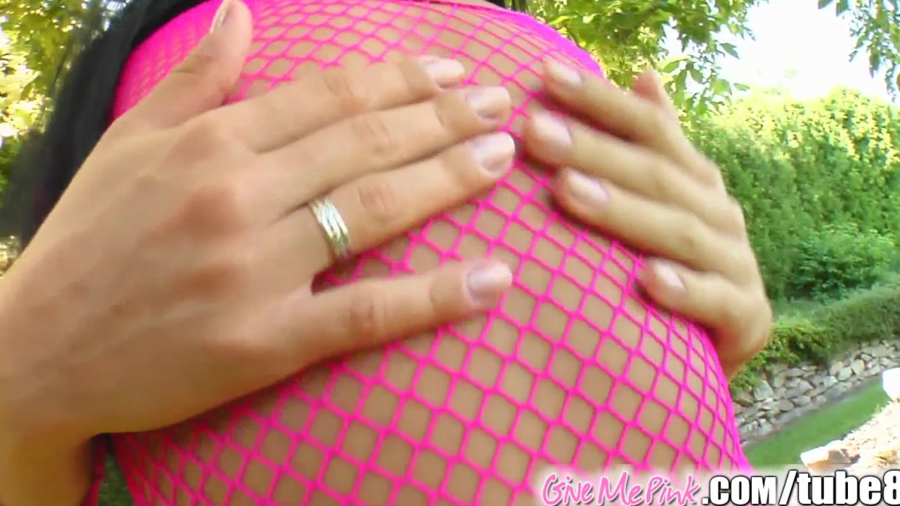 Give Me Pink Her pink pussy stimulated hotly by big toy