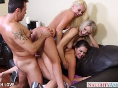 Gorgeous Aaliyah Love fucking in foursome