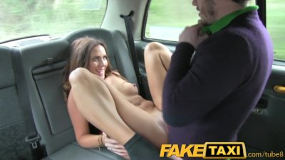 FakeTaxi Couple fuck in back o