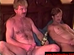 Dirty ex convicts toying with their dicks