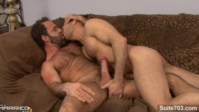 Gorgeous married guy gets fucked by a gay