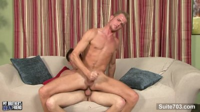 Horny gays sucking their dicks on the couch