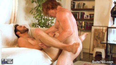 Long haired gay suck a large cock