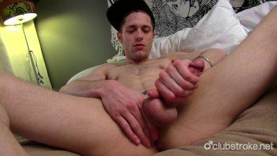 Skinny Tattooed Straight Guy Joshua Masturbating