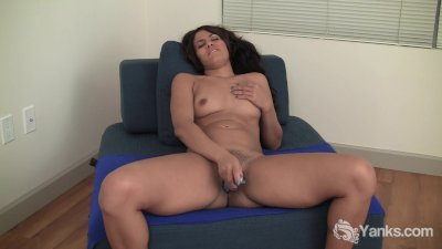 Hot Brunette Babe Nicholette Toying Her Pussy