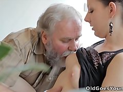 Old Goes Young   Ilona and her man are sharing a good time