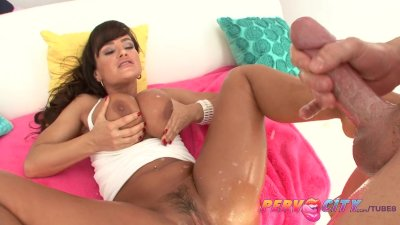 PervCity Lisa Ann Blowjob Anal and Pussy Fucking