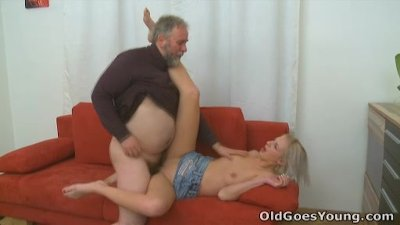 Old Goes Young - Sasha can get two cocks