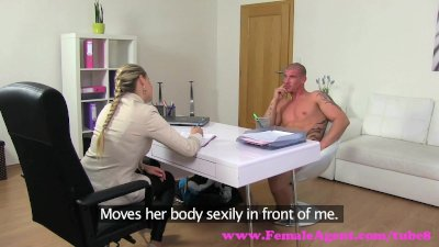 FemaleAgent. Horny MILF gets fucked well by ripped stud