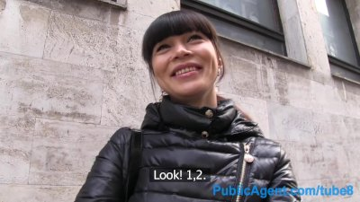 Publicagent hot asian babe fucks stranger for money 4