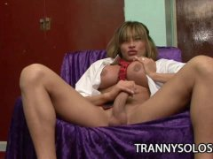 Crystal   Lonely Shemale With Huge Juggs Jacking Off