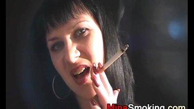 Smoking strict lady fetish