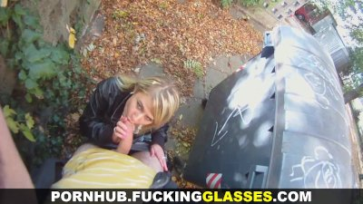 Fucking Glasses - Fucked for cash before a date