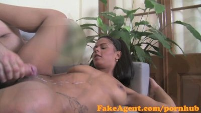 FakeAgent Sexy amateur with great body talked in to sex in Office