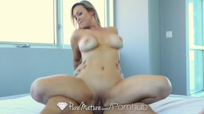 HD - PureMature Home alone milf Abbey Brooks fucks the delivery guy