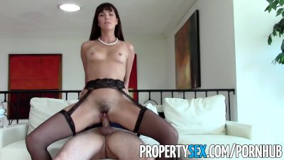 PropertySex - MILF real estate agent fucks client pretending to buy house