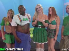 St Patrick s pornstar orgy party  Vol 3