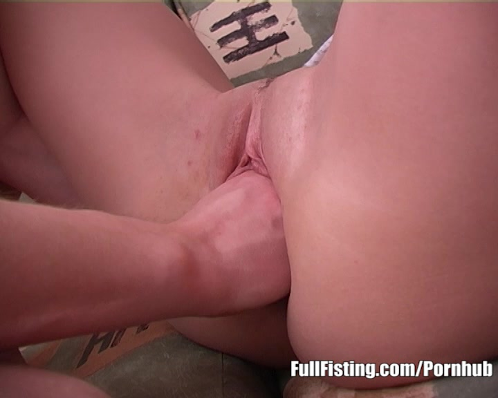 Petite Teenie Shoving Huge Fist Into Her Pussy