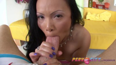 PervCity Asian MILF Anal Toys and Blowjob