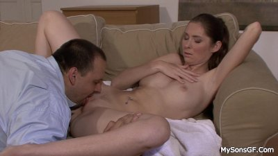 Father in law explores her young pussy