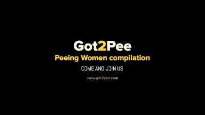 Got2Pee - Peeing Women Compilation 003