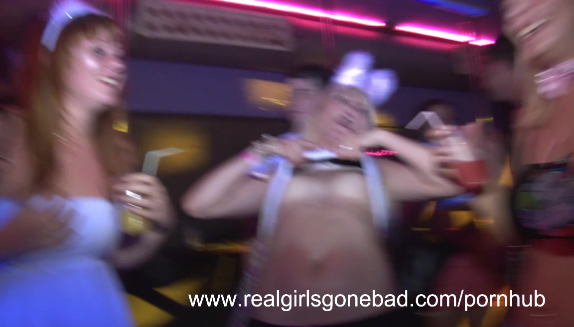 real amateur strip naked in public during a sexy spring break night out