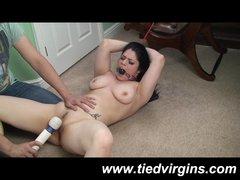 Tied Up Slut has Massive Bondage Orgasm