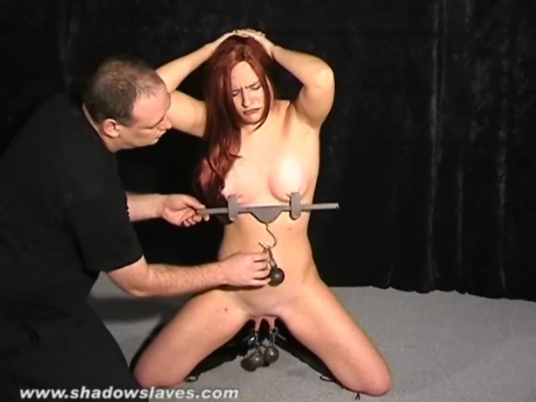 Redhead submissives tit torture and extreme domination of hardcore bdsm