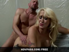 Big Tits MILF babe Alana Evans fucks huge cock and swallows massive cum fac