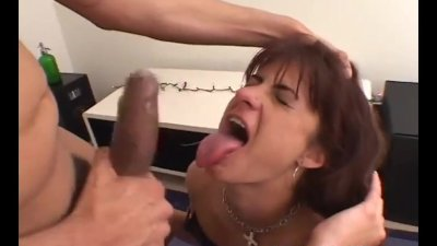 crazy amateur brunette eats ass and then takes a load all over her body
