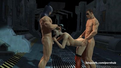 Harley Quinn, Robin, and the Joker 3 some - double penetration, juicy pussy