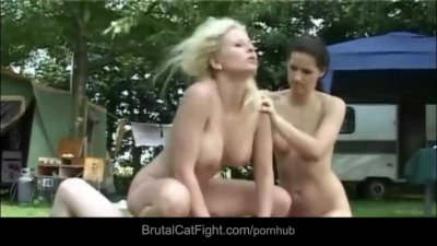 Angry wife spanks her's hubby bitchy mistress
