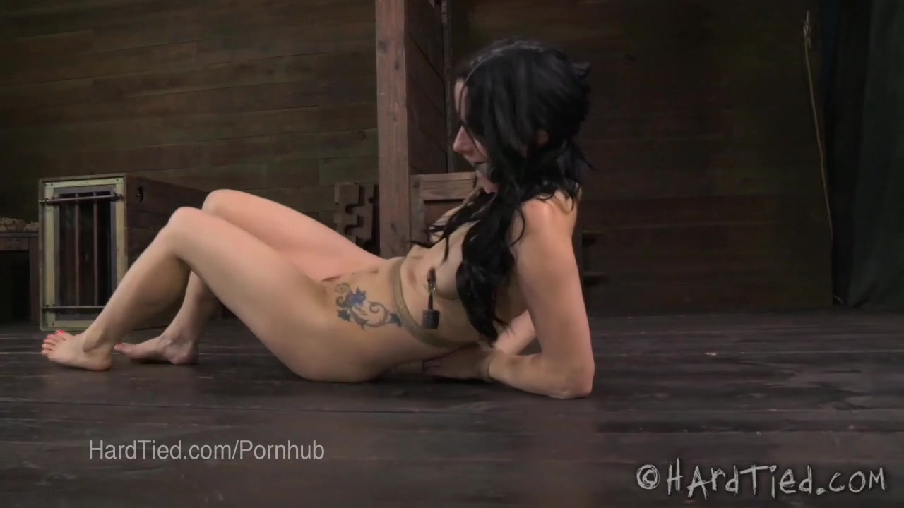 Veruca James Drooling in Bondage with Nipple Clamps