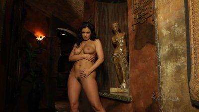 Sexy Aria Giovanni strips off her sexy dress show her body