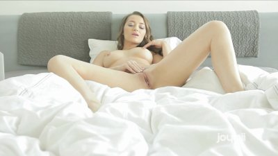 Hot Brunette Plays With Her Pussy
