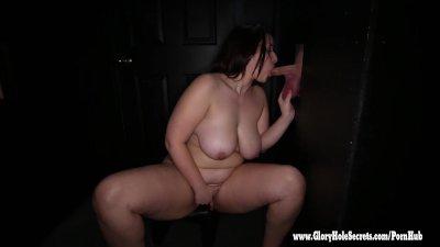 Gloryhole Secrets BBW Tiffany loves every drop of cum 2