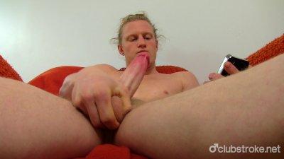 Hot Long Haired Straight Shane Masturbating