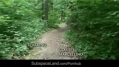 Claudie tiedup in the forest and fucked 2